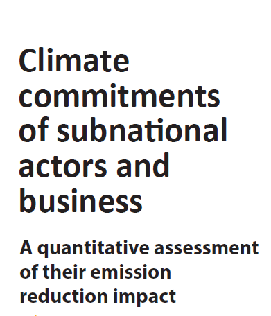 Climate Commitments of Subnational Actors and Business