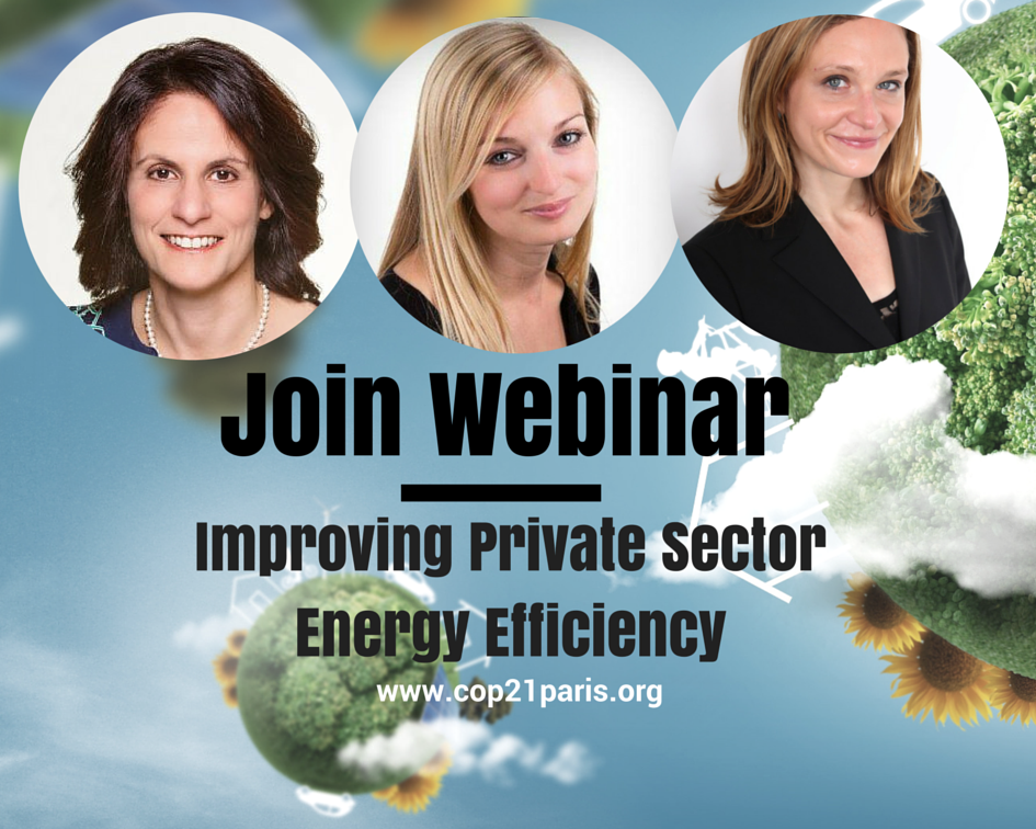 Industry Leaders to Discuss Opportunities for Improving Energy Efficiency in the Private Sector