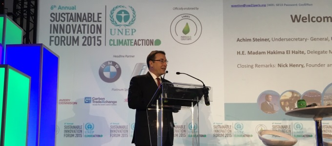 """Why not?"" - Speech by UNEP Executive Director Achim Steiner at the Sustainable Innovation Forum"